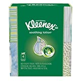 Kleenex Lotion Facial Tissue ( Designs & colors will vary ) 75 Count (Pack of 4)