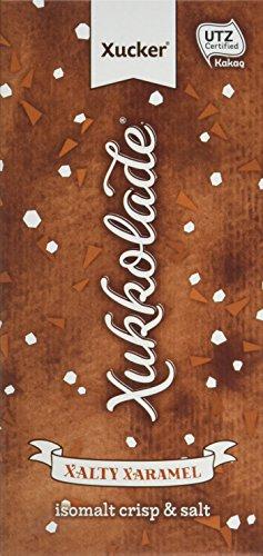 Xucker Edel-Vollmilch Salz-Xaramel, 5er Pack Xylit-Schokolade ohne Zuckerzusatz, 5 x 100g Tafel, Xukkolade