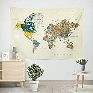 large cloth world map