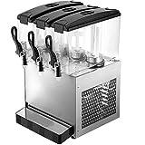 VEVOR Máquina de Dispensador de Bebida 36 L, Máquina de Bebidas Frío con Tanques 12 L * 3, Máquina de Dispensador de Jugo 270 W, Máquina de Bebidas Frías de Acero Inoxidable Temperatura 5-12℃