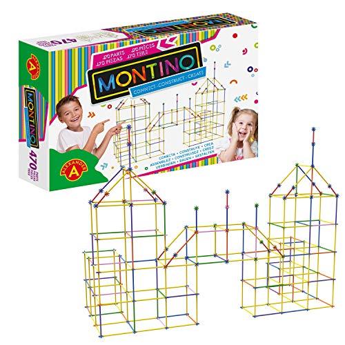 A Alexander 2418 Montino Konstruktionsspielzeug Starter Set, Baukasten mit Stäben und Verbindungen, 470 Teile...