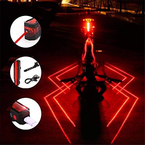 La Luz Posterior De La Bici Potente USB LED Recargable, Bicicletas Luz Trasera Bicicleta Impermeable Trasera Combinaciones, Noche Montar A La Luz De Advertencia con Los Rayos,2pcs