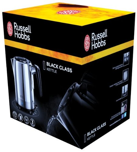 Russell Hobbs Black Glass Kettle 19251