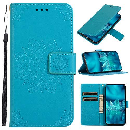 Hülle Handyhülle for Galaxy A20 / A30, Premium Leder Flip Schutzhülle [Standfunktion] [Kartenfächer] [Magnetverschluss] lederhülle klapphülle für Samsung Galaxy A20/A30 - TTCDD010101 Blau