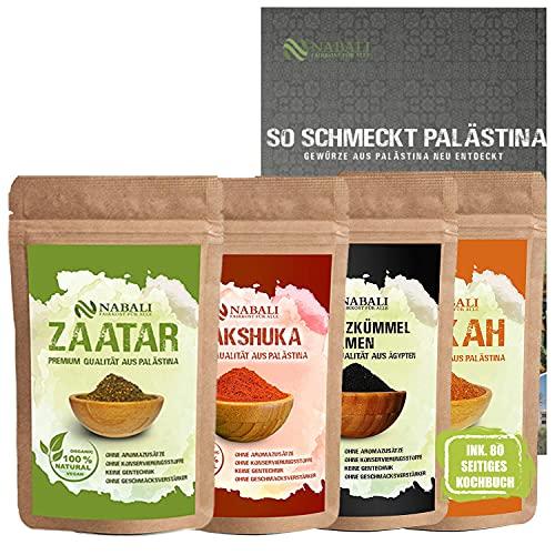 NABALI FAIRKOST FÜR ALLE Zaatar & Dukkah & Schwarzkümmel & Shakshuka & Kochbuch Qualitätsware aus Palästina je...