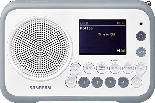 Oferta de Sangean DAB + radio portátil DPR-76 FM recargable blanco, piedra