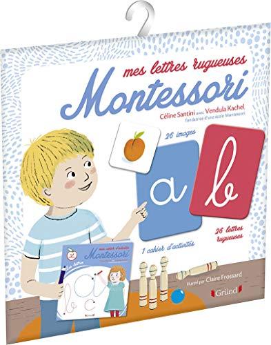 Mes lettres Montessori – Pochette avec 26 lettres rugueuses et 26 cartes – À partir de 3 ans