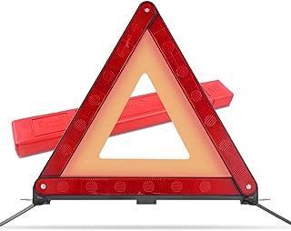 MYSBIKER Warndreieck Notfalldreieck, KFZ Euro Warndreieck Warnsignaldreieck erfüllt die europäischen Normen ECE R27 Zertifiziert, Sicherheit Warnzeichen mit Aufbewahrungsbox