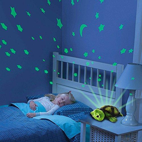 2-in-1 nachtlampje en sterrenhemelprojector voor baby's, kinderkamer, turtle schildpad, 3 mogelijke led-kleurlichten (blauw, rood en groen) instelbaar, auto-off-functie en vele andere functies, nieuw