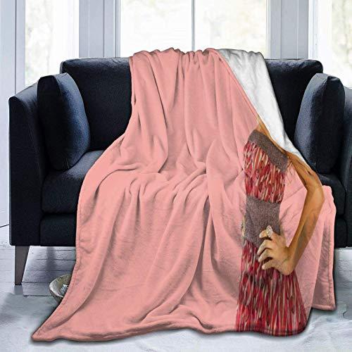 Rihanna Ultraweiche Micro-Fleece-Decke, Überwurf, superweich, hypoallergen, Plüsch, Bett, Couch, Wohnzimmer, 203,2 x 152,4 cm