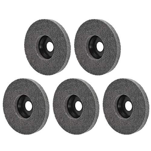 Ruedas de pulido de 5 pulgadas para 100 amoladoras angulares de esquina, color negro, 5 unidades