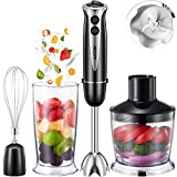 Aicok 4 in 1 Multi-Purpose Immersion Blender, 10-Speed Hand Blender with 6-Leaf Stainless Steel...