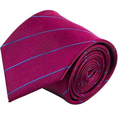 100% Silk Handmade Pencil Striped Tie Men's Necktie by John William