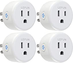 [New Version] Smart Plug, LeFun WiFi Outlet Grouping Control (4-Pack) Compatible with Alexa Google Assistant and IFTTT, No Hub Required, App Remote Control Smart Outlet Plug Timer Schedules, FCC ETL