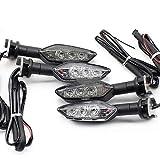 QOHFLD para Yamaha MT 01 MT 25 MT 03 MT 07 MT 09 MT 10 Tracer Motocicleta Intermitente Delantera o Trasera MT09 MT07, luz indicadora de señal de Giro LED
