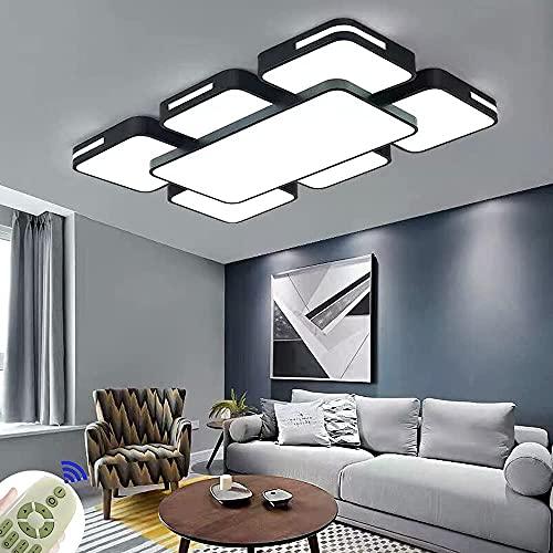 LED Lámpara de Techo 78W Interior Plafón Moderna LED de Techo Rectangular De Dormitorio Pasillo Cocina Sala Salón Comedor (Regulable 3000-6500K)