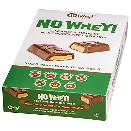 No Whey Foods Chocolate Candy Nougat And Caramel Bars 12 Pack Vegan Dairy Free Peanut Free Nut Free Soy Free Gluten Free Grocery Gourmet Food