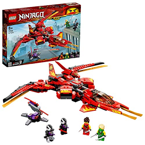 LEGO 71704 NINJAGO Legacy Kai Fighter Toy Jet Playset with Nindroid Action Figures