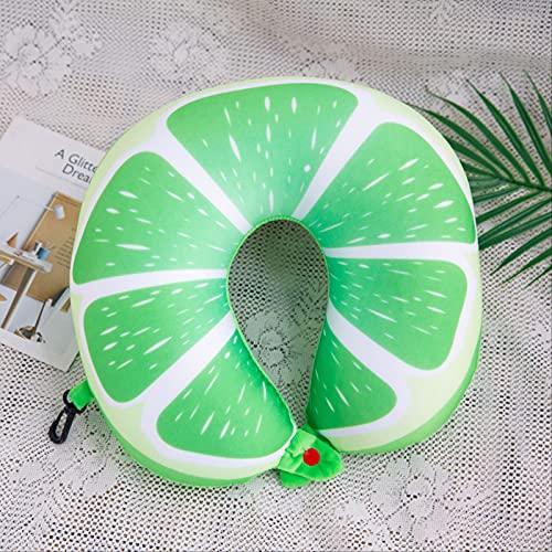 Almohada En Forma De U con Partículas De Espuma De Iones Negativos 30*30*10cm Verde