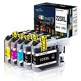 GPC Image LC223 XL Kompatibel Patronen Ersatz für Brother LC223 für MFC J5320DW J4120DW J4420DW J880DW J480DW J4620DW J5620DW J680DW J5625DW J4625DW J5720DW (5-Pack)