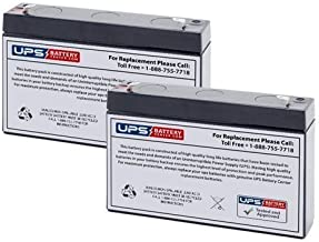 6V 7Ah Battery Replacement for Gallagher S17 Solar Fence Charger - 2 Pack