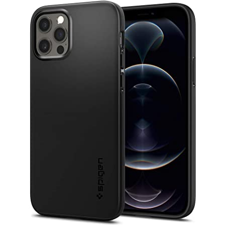 Spigen Funda Thin Fit Compatible con iPhone 12 y Compatible con iPhone 12 Pro - Negro