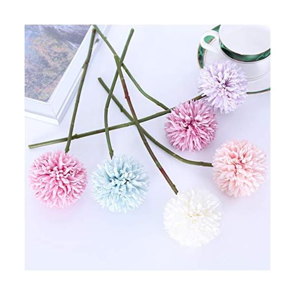 HEALLILY Artificial Chrysanthemum Flower Silk Ball Flowers Hydrangea Arrangement Bouquet for Wedding Home Office Coffee…