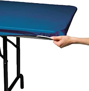 Creative Converting Party Supplies Plain Royal Blue Stay Put Tablecover