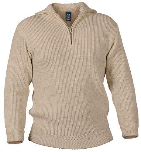 Blauer Peter - Troyer - Pullover - Schurwolle - 9 Farben, Farbe:Beigemeliert, Größe:60