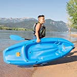 Lifetime Youth Wave Kayak (Paddle Included), Blue, 6' 14 Ergonomic Cockpit Design Enhances Balance and Motor Skills Molded finger handles on each side of the kayak Reverse chine for enhanced stability with swim-up step