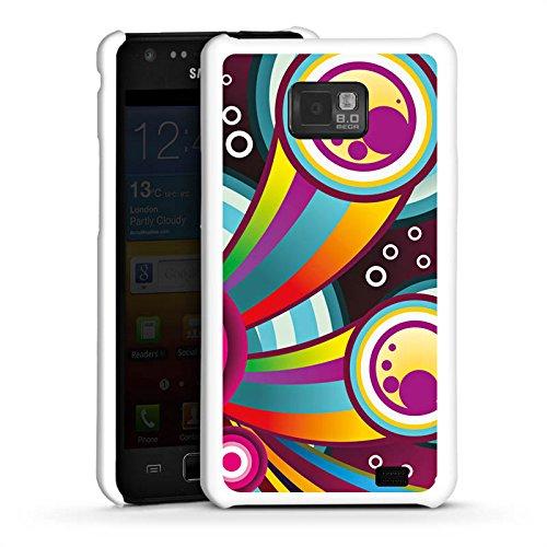 DeinDesign Hard Case kompatibel mit Samsung Galaxy S2 Schutzhülle weiß Smartphone Backcover bunt Farbe Regenbogen