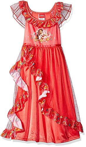 Disney Girls' Fancy Rapunzel Fantasy Nightgown (4-5 Years, Elena Red)