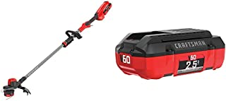 CRAFTSMAN CMCST960E1 V60 Brushless WEEDWACKER Cordless String Trimmer with Quickwind with CMCB6025 V60 2.5AH Lithium Ion Battery͍