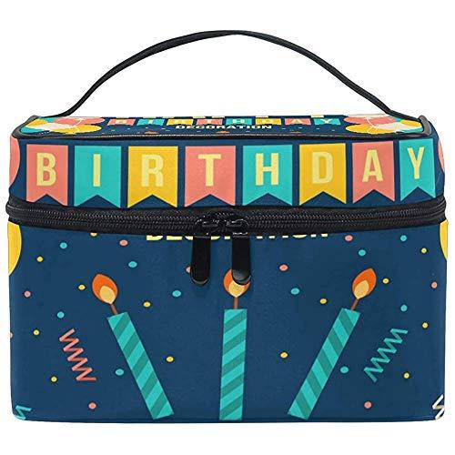 Make-up tas ballon kaars verjaardagscadeau toiletartikelen make-up tas tas draagtas organizer opslag voor vrouwen meisjes