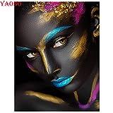 5D-DIY-Diamond Diamante redondo Maquillaje Colorido Kit de bordado de diamantes de imitación para mujer Artesanía y punto de cruz Decoración para el hogar Decoración de pared Regalo sin marco-40x50cm