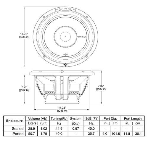Rockford Fosgate P2D4-12 Punch P2 DVC 4 Ohm 12-Inch 400 Watts RMS 800 Watts Peak Subwoofer
