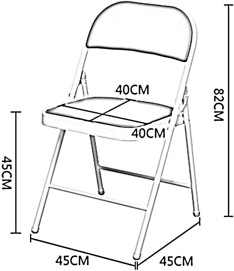 WANG Chaise de Bureau Chaise, Appui mécanique Triangulaire Pliable de Cadre en métal Bureau humanisé incurvé de Dossier de Bureau/Chaise dinante 9 Couleurs (Color : Green) Red