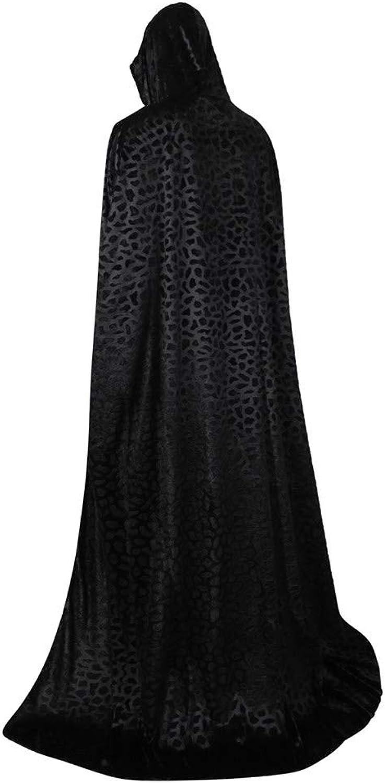 Frawirshau Unisex Hooded Cape Cloak Full Length Halloween Cape Cosplay Robe Costumes Masquerade Cloak