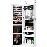 LANGRIA wall-mounted Slim Bezel jewelry cabinet armoires, white