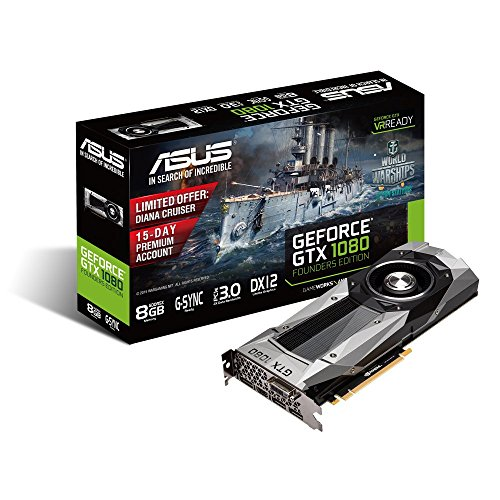 Asus GeForce GTX 1080 GTX1080-8G da 8GB, DDR5X, Argento