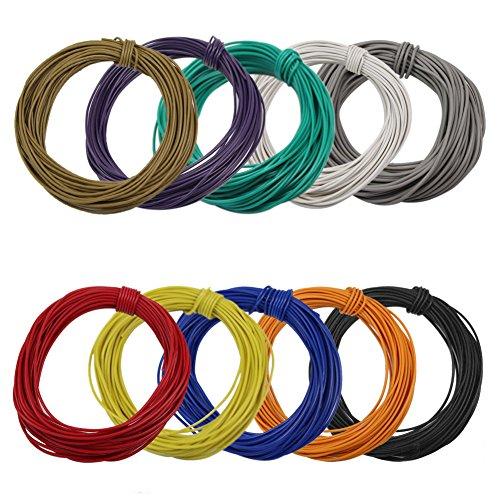 Evemodel 100m Kabel / Litze 0.12mm² 1A zehn Farben