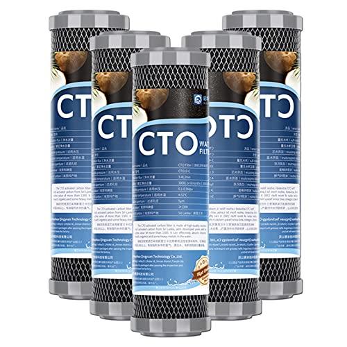 Filtro de agua universal de carbón activado de cáscara de coco de 1 micrón, para filtración de toda la casa por unidad de ósmosis inversa, se adapta a todas las carcasas de filtro de 10 ', 2,5' x 10 '
