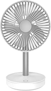 Table Fan Desktop Shaking Head Fan 4000mAh Super Mute Usb Charging Mini Fan 4 Gear Wind Table Fan Desktop Fan (Color : White)