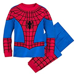 Marvel Spider Man Costume Pj Pals For Boys Size 10