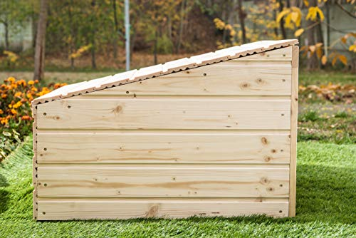Mähroboter Garage aus Holz – Carport für Rasenroboter - 7