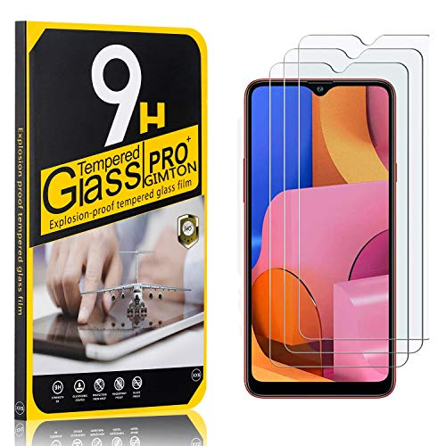 GIMTON Displayschutzfolie für Galaxy A20S, Ultra klar Schutzfilm aus Gehärtetem Glas, Anti Kratzen Displayschutz Schutzfolie für Samsung Galaxy A20S, 3 Stück