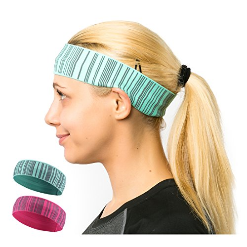 Workout Headbands for Women and Men Sports Perspiration /& Forehead Protection Suite for Running Yoga Fitness Basketball