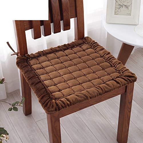 HEWEI zitkussen van pluche voor de winter, bureaustoel, antislip, zitkussen voor studenten, B 45 x 45 cm (18 x 18 inch) 60x60cm(24x24inch)  Oro rosa + oro rosa