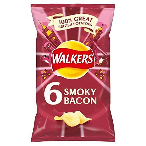 Walkers Smoky Bacon Crisps 6 X 25G