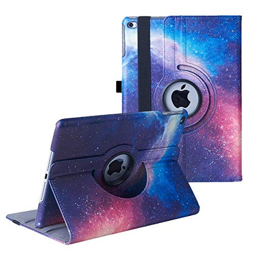 iPad 9.7 inch Case 2018 2017/ iPad Air Case - 360 Degree Rotating Stand Protective Cover Smart Case with Auto Sleep/Wake for Apple iPad 5th/6th Generation (Galaxy)